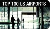 Top-100 US Airports in 2013 by Departing Passengers and Cargo