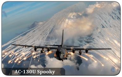 AC-130 Gunship  AC-130J   C 130 Gunship Firing