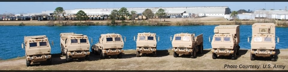 FMTV Vehicles Lined Up