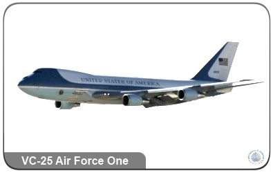 The Boeing VC-25 Air Force One